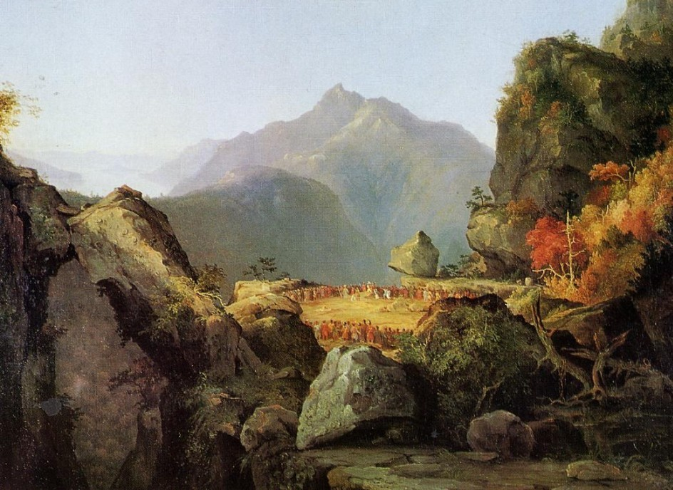 Landscape Scene from The Last of the Mohicans by Thomas Cole 1827