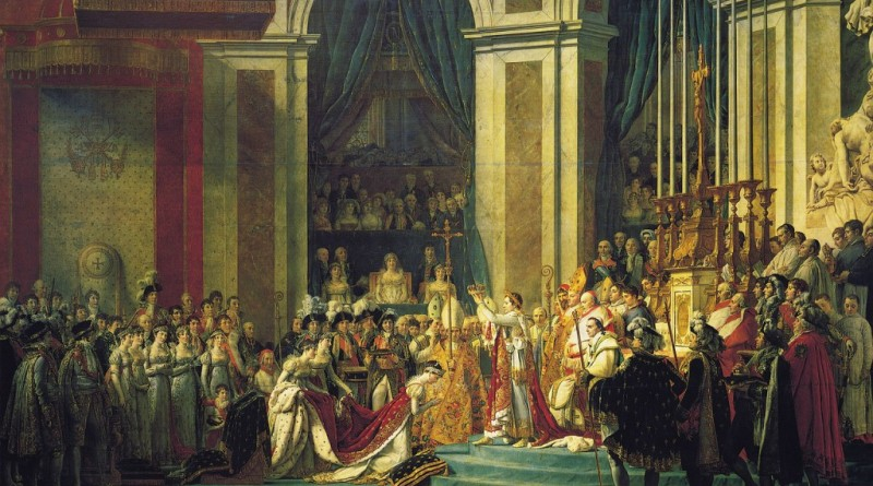 The Coronation of Napoleon by Jacques-Louis David in 1804