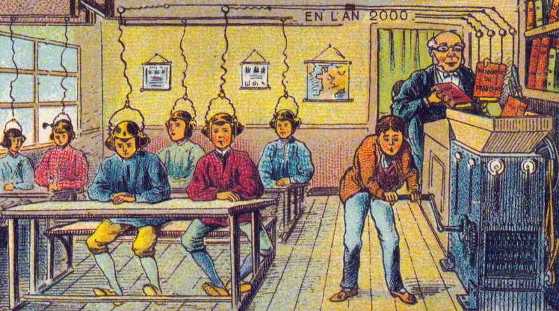 1900 vision of School in the Year 2000